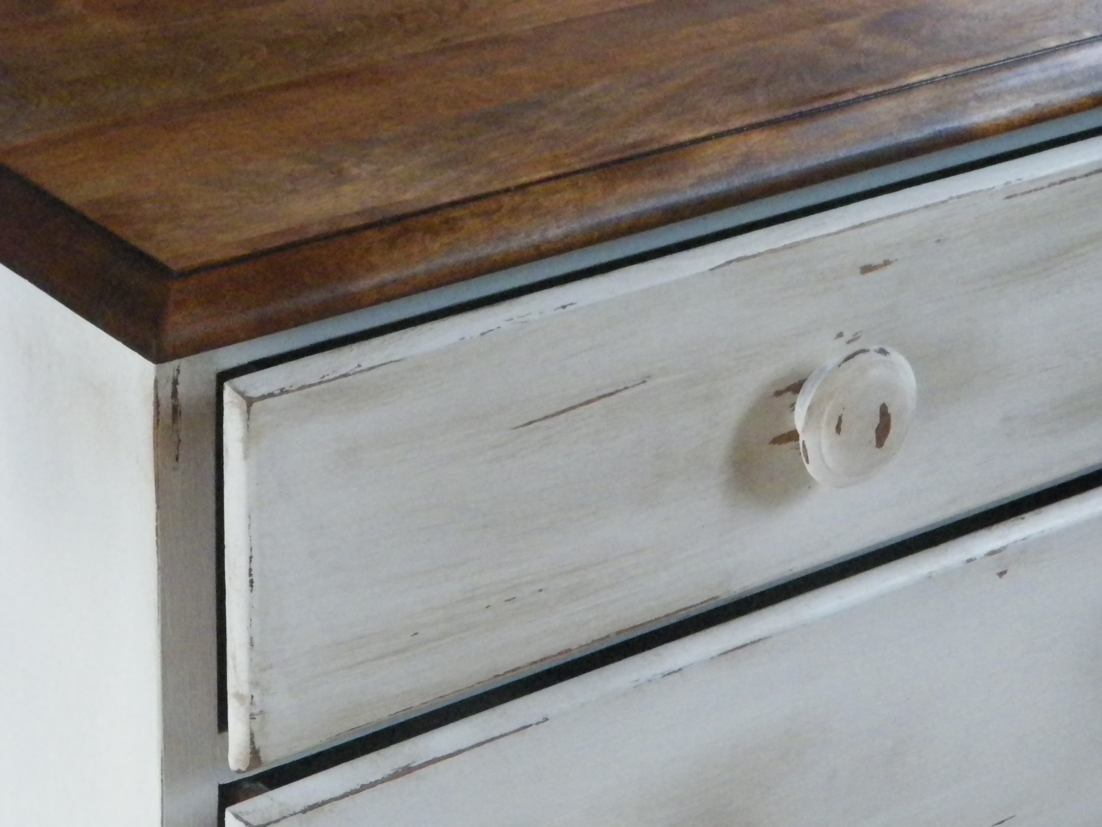 Wood Top Shabby Chic-2