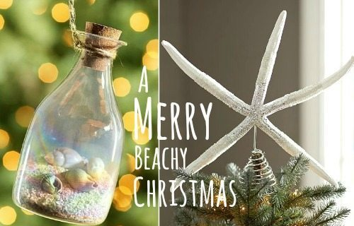 beach christmas decorations ideas inspired by sea sand shells - Beach Christmas Decorating Ideas