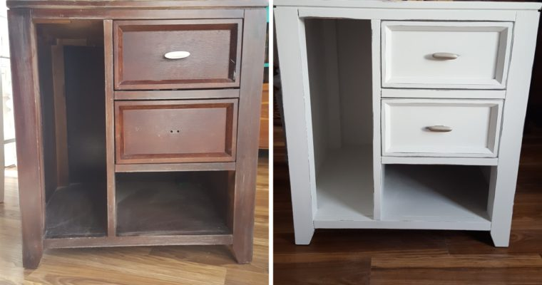 Before and After End Table White