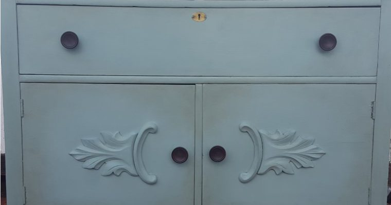 Antique Blue Sideboard