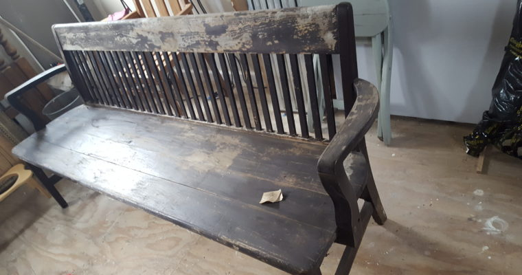 entry way bench upcycle